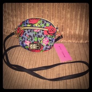 NWT Betsey Johnson Cheetah Rose Crossbody!