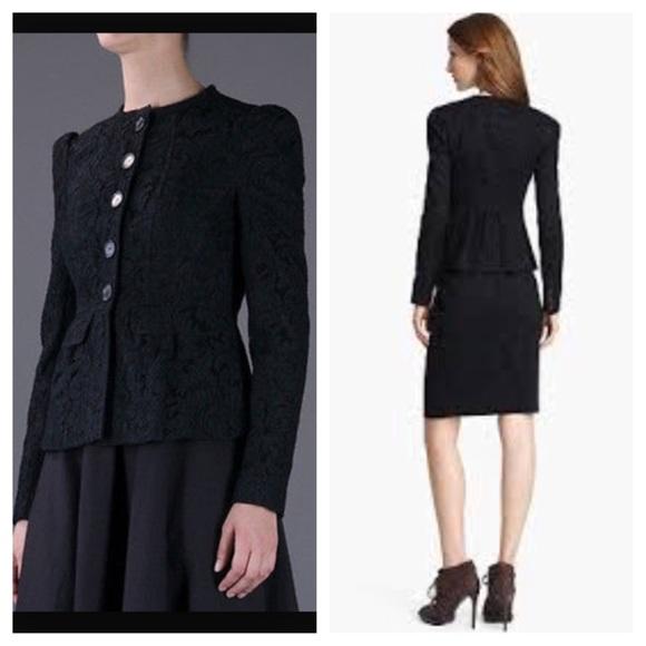 607c892c7257 NEW Burberry London Black Lace Peplum Jacket