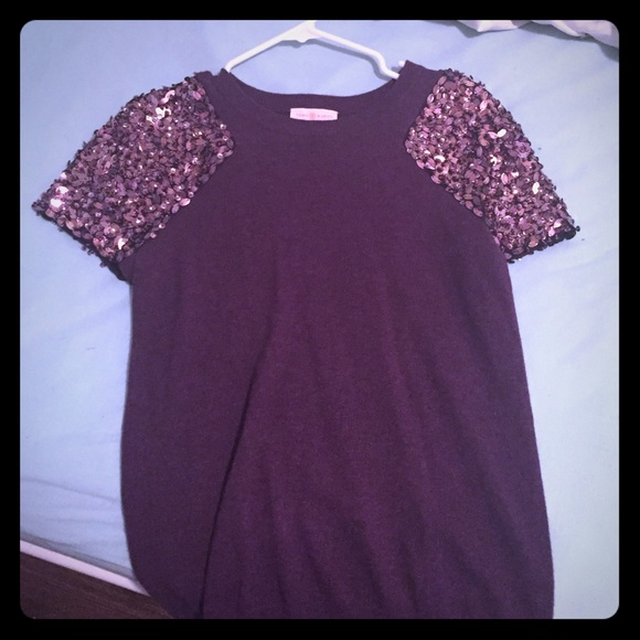 88% off Tory Burch Sweaters - Purple and sequin short sleeve Tory ...