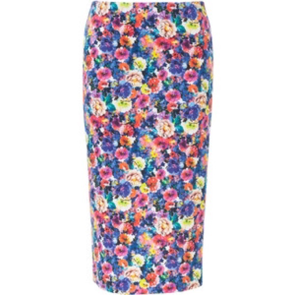 floral pencil skirt zara www imgkid the image kid