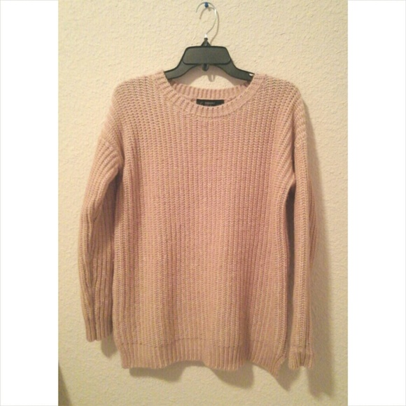 78% off Forever 21 Sweaters - 🎈REDUCED: Rose Gold/ Pink knit ...