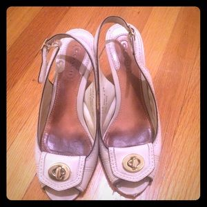 Coach Shoes - Coach d'orsay ivory pumps