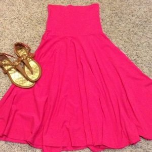 Hot pink strapless J Crew dress!