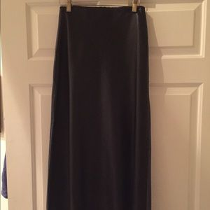 Catherine Malandrino genuine leather front skirt