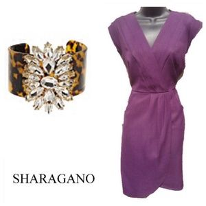 Sharagano Plum Dress