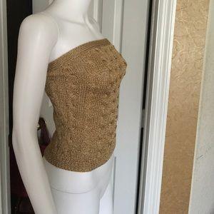 8cbbc03e70 Ralph Lauren Tops - Ralph Lauren Golden Knit Tube Sweater Top Sz med
