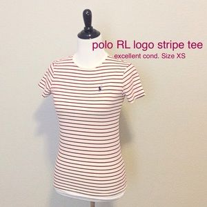 Ralph Lauren Tops - EXCELLENT polo RL stripe crew tee, sz XS. SOFT!