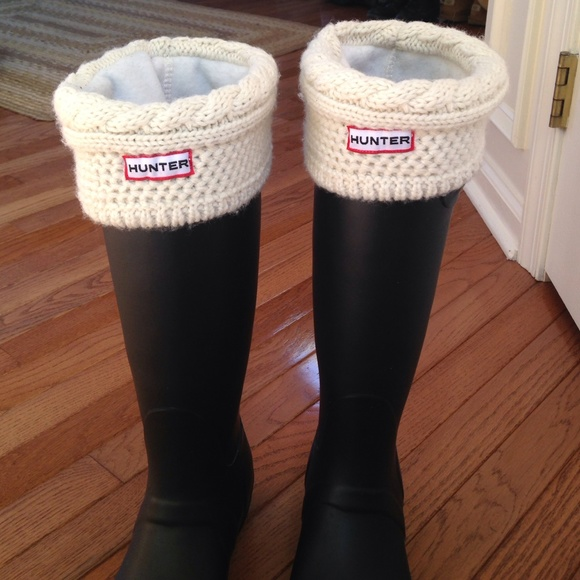 09c63b98158 Hunter boot liners cream cable knit