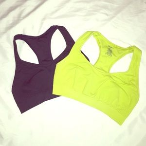 Other - 2 Sports Bras ( Navy Blue & Lime Green )