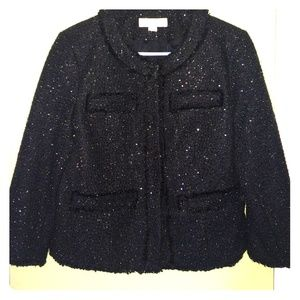 Michael by Michael Kors Sequined Boucle Jacket