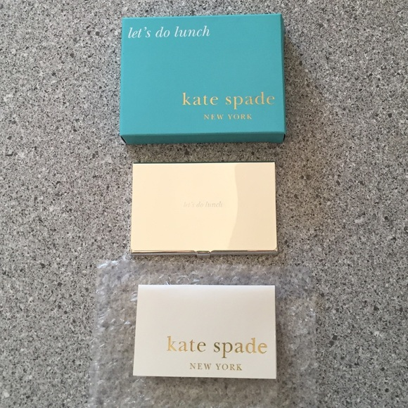 Kate spade accessories lets do lunch business card holder poshmark kate spade lets do lunch business card holder colourmoves