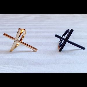 Cross Ring Gold & Black