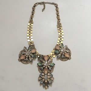  Bronze Tone Statement Necklace 