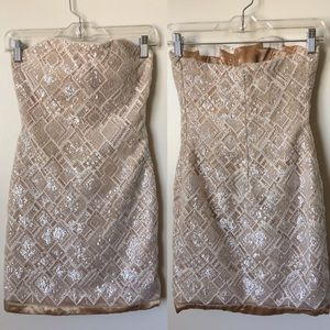 La femme strapless sequin cocktail dress size 0