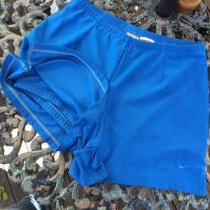 Blue Nike Fit Dry Shorts With Bikers Under