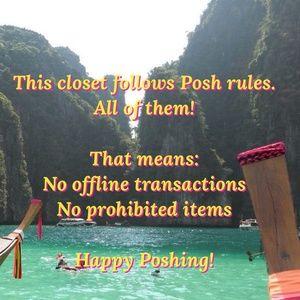 Posh rules only closet