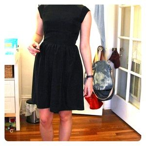 Mossimo for Target Dress w/ Faux Leather Shoulders