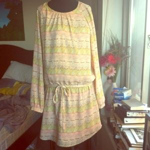 SALE $23 Forever 21 Tribal Print Pink Dress!