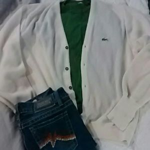 Lacoste White cardigan.perfect condition