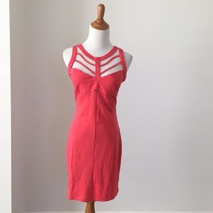 Buffalo coral caged dress