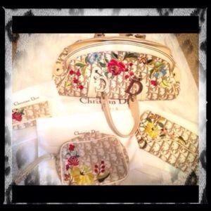 Dior Handbags - Christian Dior Set~Handbag~Key Fob~Wallet~Makeup