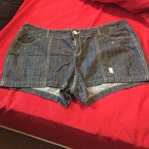 TORRID dark denim shorts