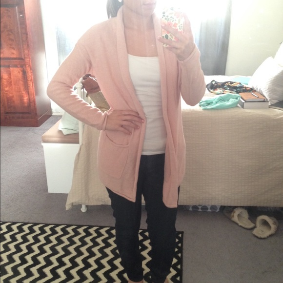 28% off Forever 21 Sweaters - Light Pink Open Cardigan from ...