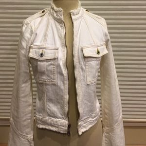 cute cheap sale uk really cheap Joie off-white denim jacket