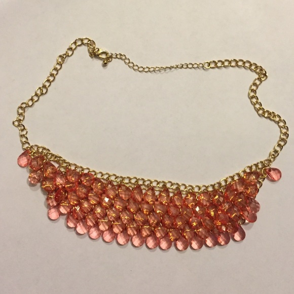 Jcpenney Gold Bracelets: Coral And Gold Statement Necklace