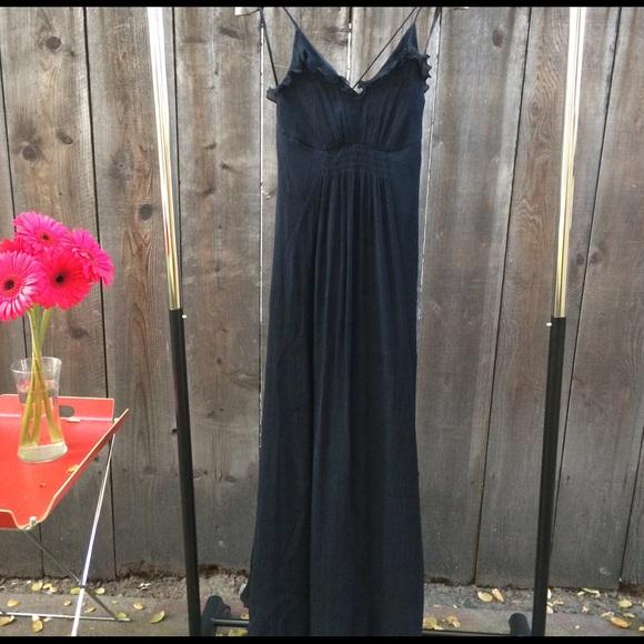 0b8d3a57de Armani Exchange Dresses | Black Silk Maxi Dress | Poshmark