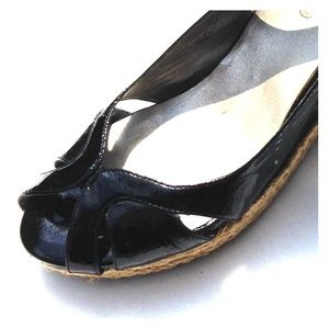 Patent Leather Slingback Wedge