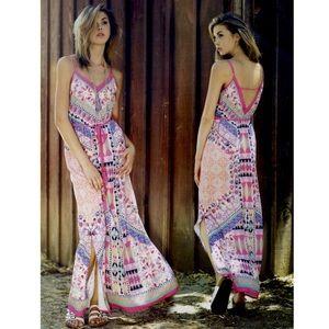 The EDIZA print maxi dress - PINK