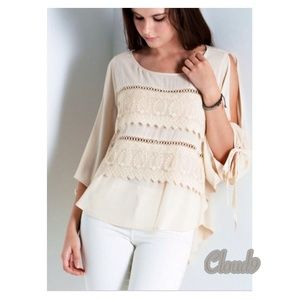 Cloud 9 Tops - NEW arrival ~ Gorgeous ~ Ivory Creme Blouse NEW