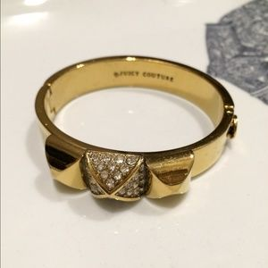 Juicy Couture Crystal Pyramid Hinged Bangle