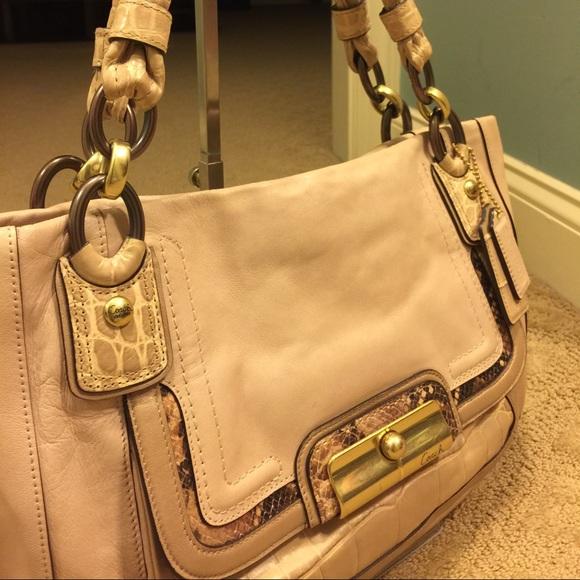 88 off coach handbags vintage light pink leather coach. Black Bedroom Furniture Sets. Home Design Ideas