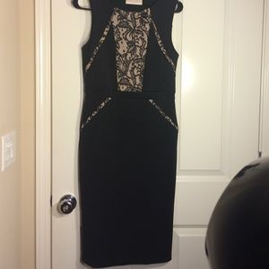 Dorothy Perkins black lace dress