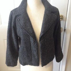 NWT GAP charcoal grey cropped blazer/jacket