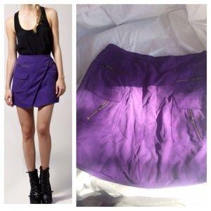 Doo.Ri Dresses & Skirts - under.ligne by doo.ri Purple Silk Zip Skirt
