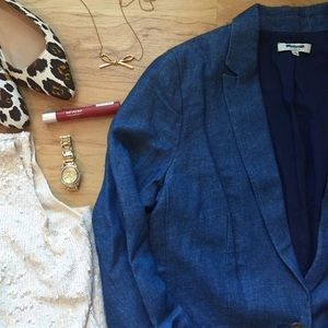 Madewell Jackets & Blazers - Madewell Tailored Blazer in Chambray