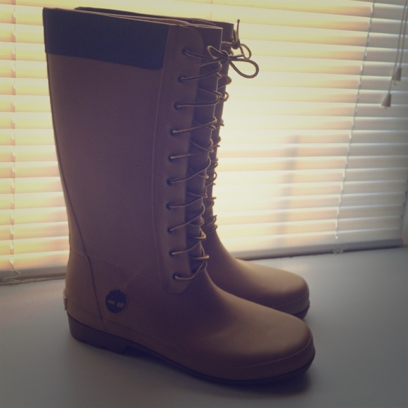 78% off Timberland Boots - Timberland rain boots size 11 from ...