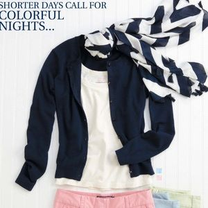 Vineyard Vines Navy Cardigan
