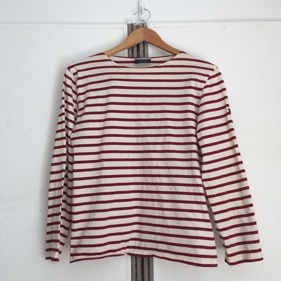 92 off saint james tops saint james red white striped for St james striped shirt