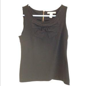 Banana republic black sleeveless bow top size xs