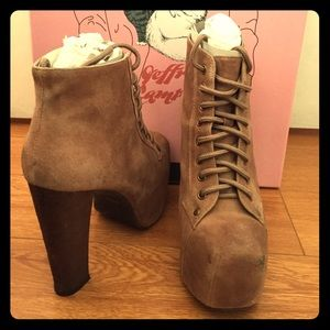 JEFFREY CAMPBELL LITA SHOES (TAUPE) SIZE 6