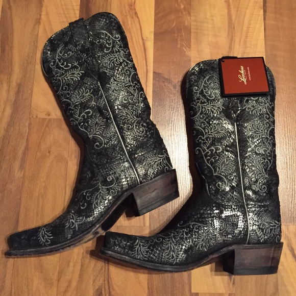 a96ec3a8edb Lucchese Women's 6.5 Python Print Bling Boots