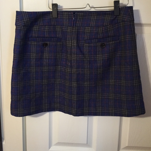 87 gap dresses skirts gap blue plaid wool mini