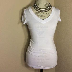 Merona Tops - White v-neck top, super soft