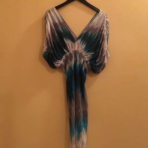 Zizzi Dresses & Skirts - Off the shoulder blue, grey, white dress.