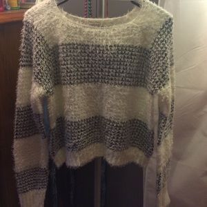 Mudd black and white striped sweater