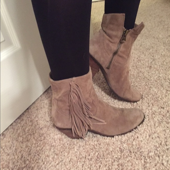 Buy Women Shoes / Sam Edelman Louie Tan Fringed Ankle Boots